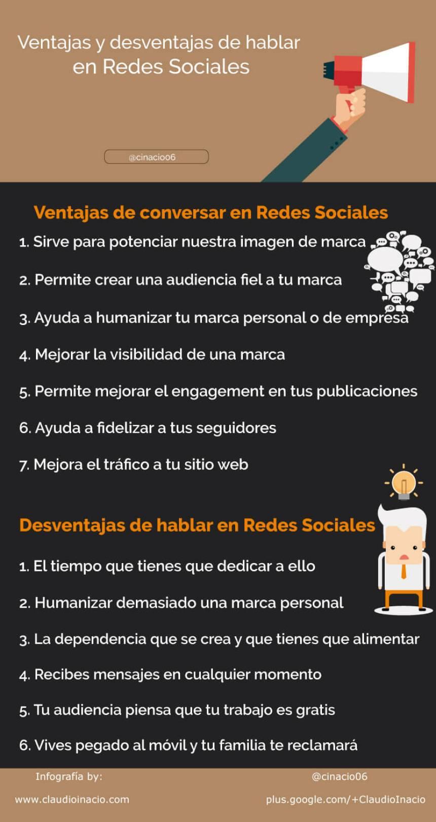 Ventajas y desventajas de hablar en Redes Sociales
