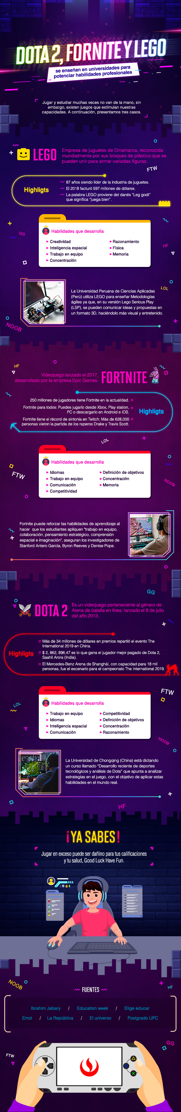Videojuegos usados en universidades para potenciar habilidades profesionales