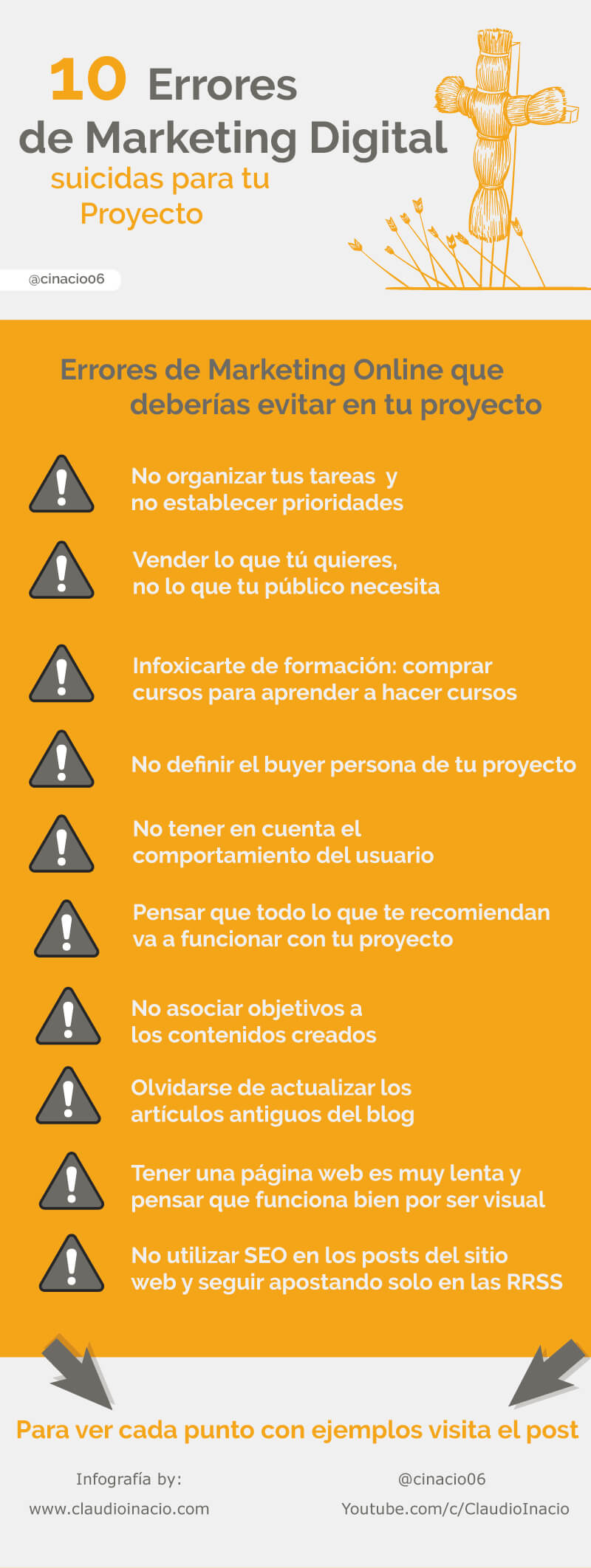 10 errores en Marketing Digital