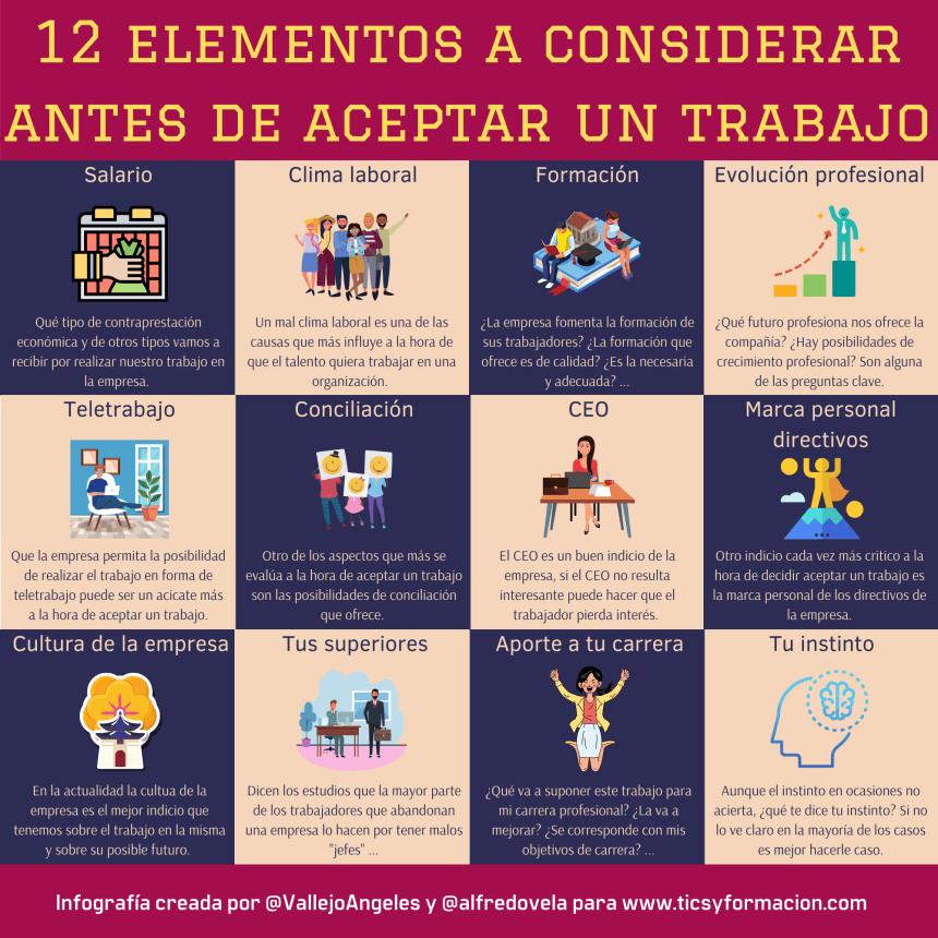 12 elementos a considerar antes de aceptar un trabajo