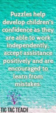 Puzzles develop confidence