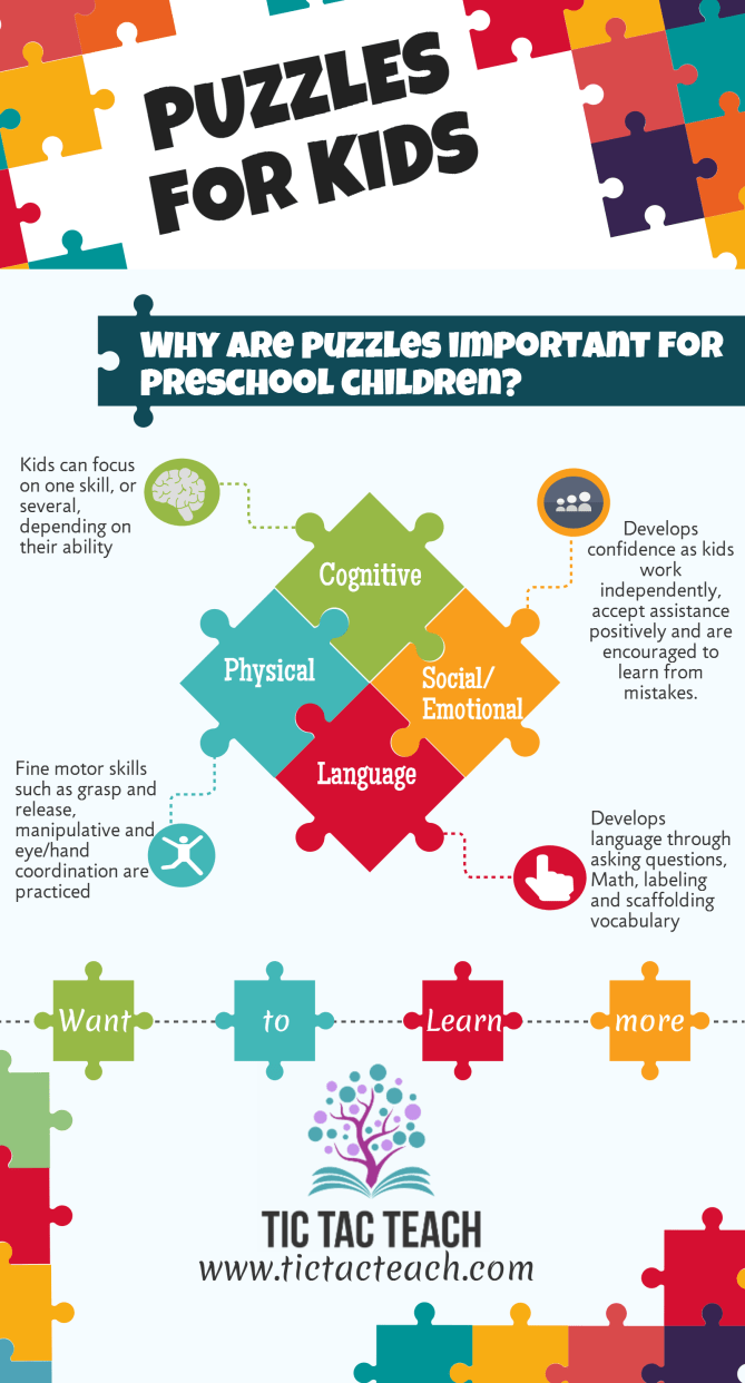 Puzzles for Kids Infographic - Tic Tac Teach