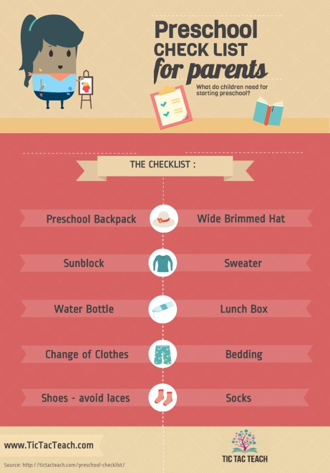 Preschool Checklist for Parents