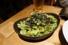 Wasabi dressing and sardine fresh salad