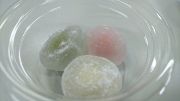 Japanese mochi with anko and soy bean paste fillings