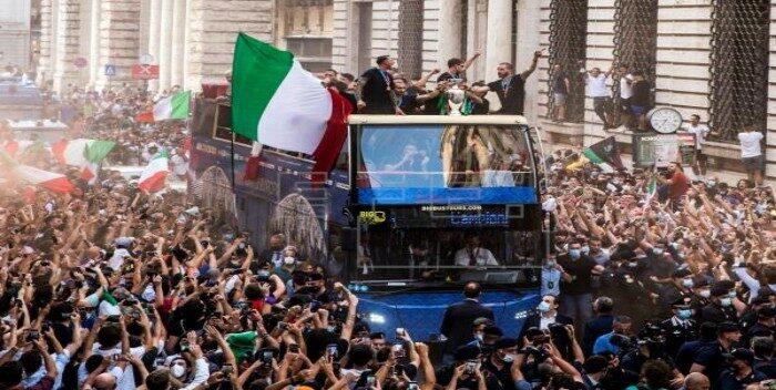 Festejo Italia Eurocopa