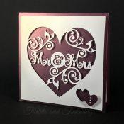 Mr. & Mrs. Heart Flourish Newlyweds Wedding Card