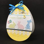 Egg Shaped Easter Card