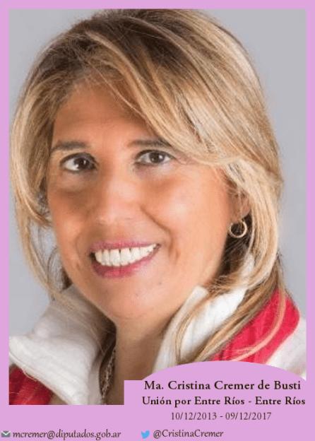 María Cristina Cremer de Busti