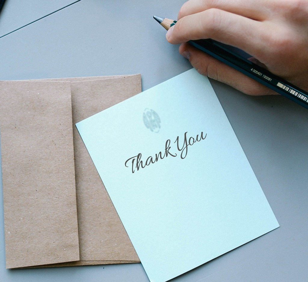 ways to say thank you card photo