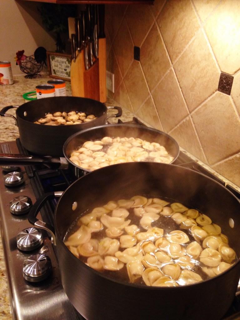 Boiling Tortellini