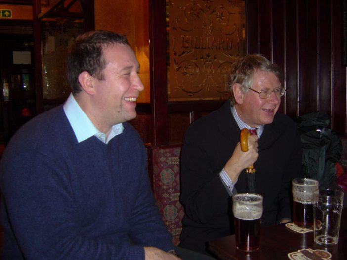 Benedict and Charles Relle, on 11 January 2005, at a pub near the Tower of London.