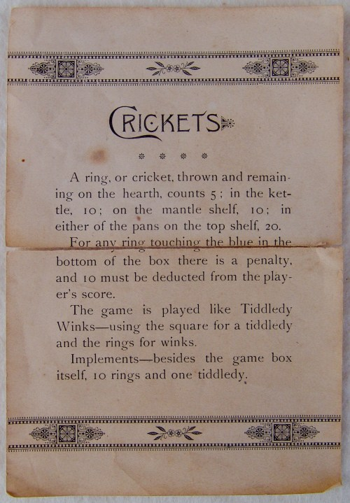 Origins and Early History of Tiddlywinks • Tiddlywinks!