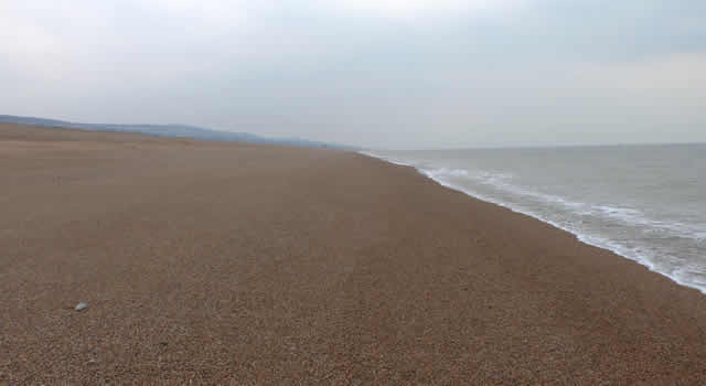 Featureless Cogden Beach