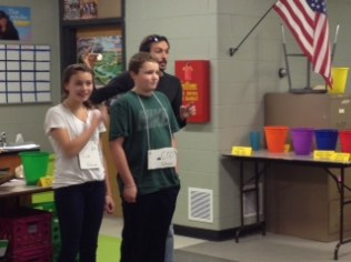 Chemistry role playing! Shell formation! 7th grade Calcium bonds with 7th grade Carbonate as best as 7th graders can!