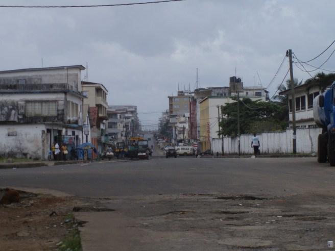 An empty Randall street on a Sunday