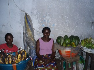 Mary with her papaya