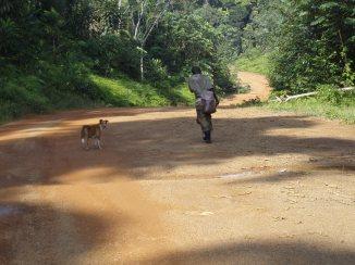 The hunter with his loyal dog.
