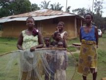 Village women getting ready to go fishing (Arthington, Liberia)