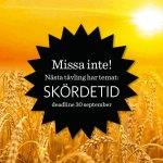Ny novelltävling på temat Skördetid