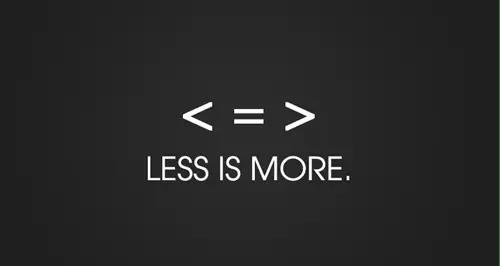 Varför mindre är mer och varför det finns mer än mindre
