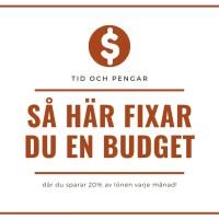 Gör en hushållsbudget enligt 50/30/20 regeln - Bästa sätt att fördela rätt