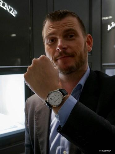 Watch model: Lars Christian Tidemann, Tidemann co-owner and watchmaker.