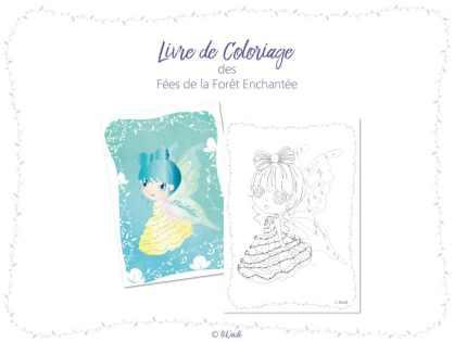 Livre de coloriage des fées de la Forêt Enchantée