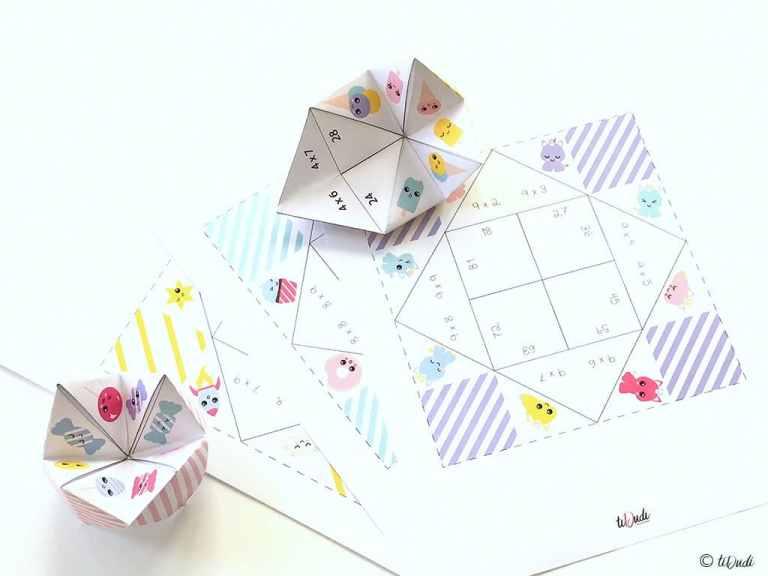 Des cocottes pour apprendre les tables de multiplication