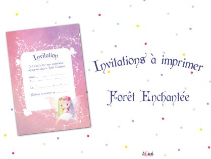 Invitations à imprimer : Forêt Enchantée