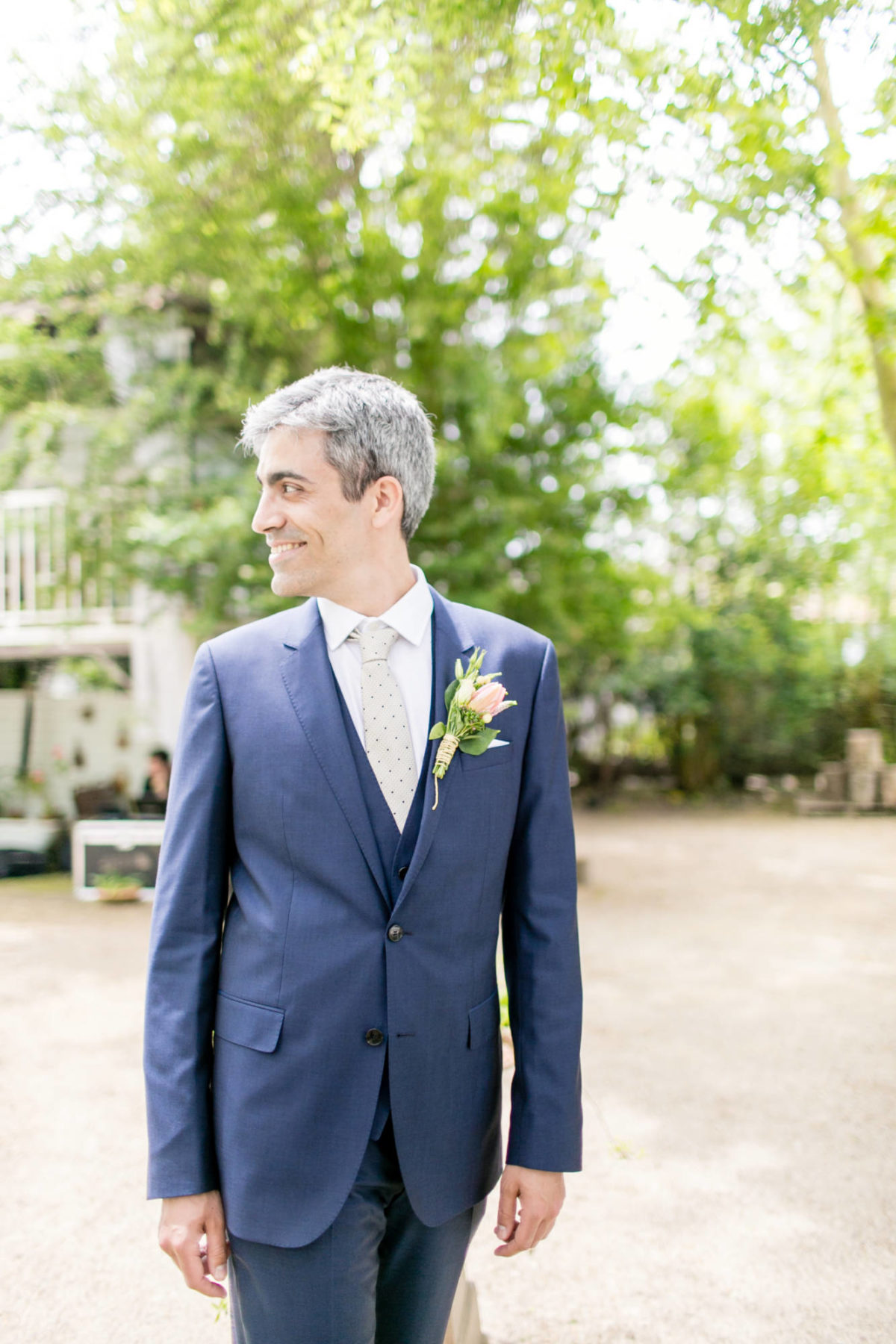 Picture of a groom at the wedding venue