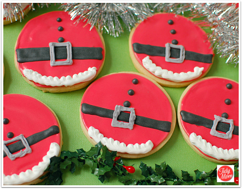 Santa Belly Decorated Christmas Cookies At Tidymom Net