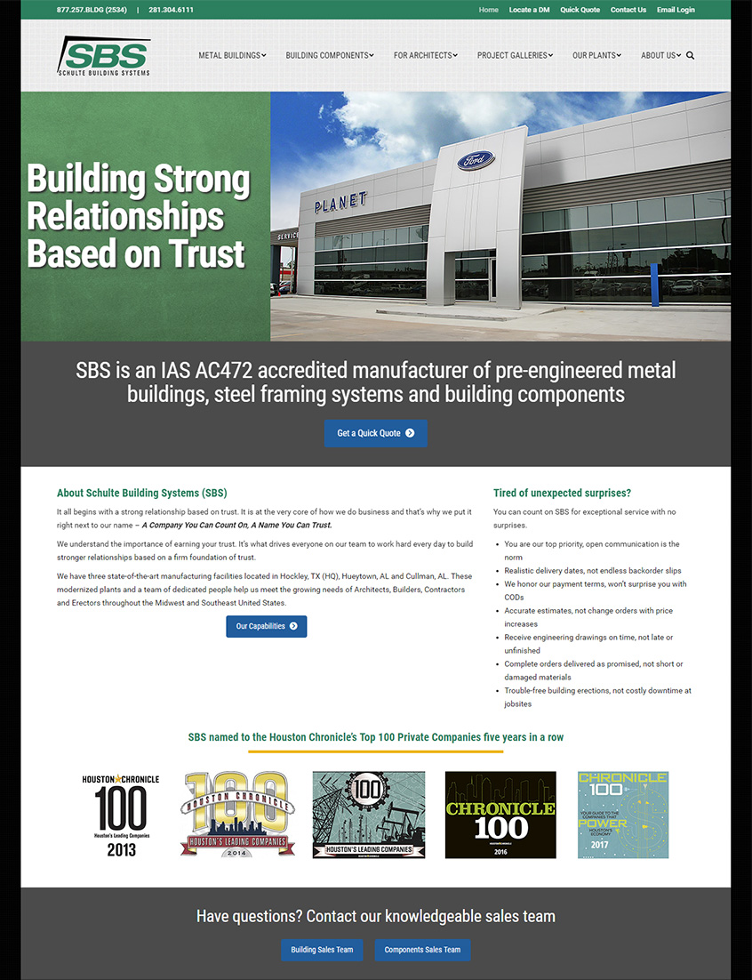 Industrial website site as part of integrated industrial marketing