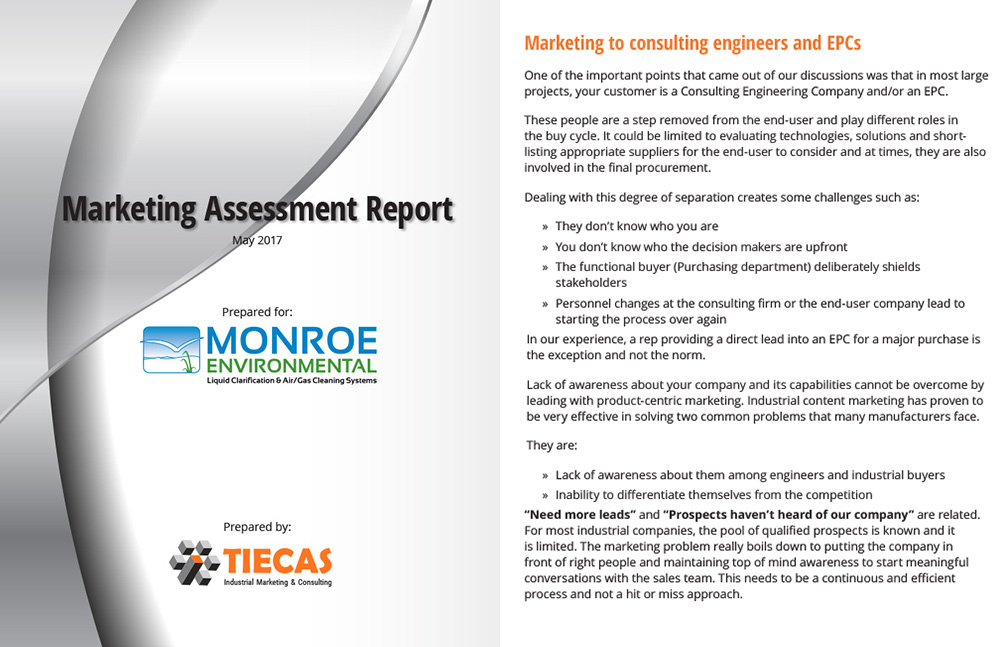 Industrial marketing consulting assessment report
