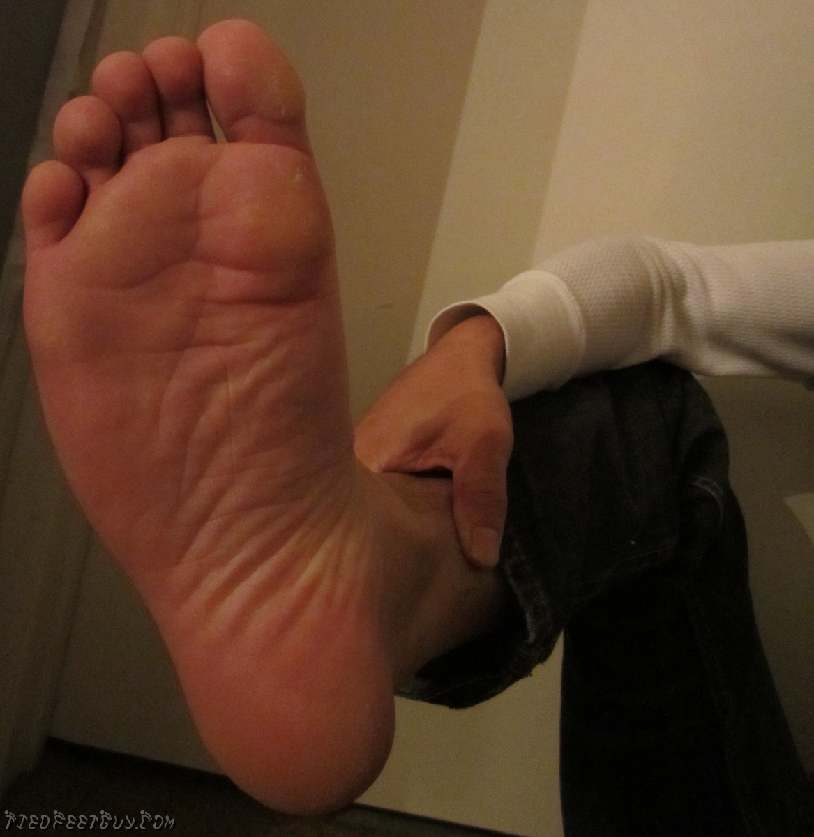 Forced to smell male feet