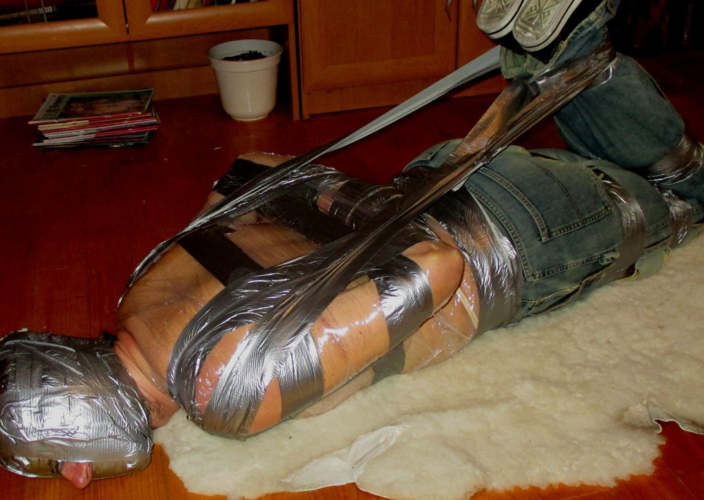Wrapped up in saran wrap with