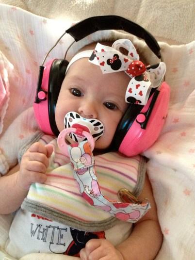 Poppa got her some headphones for loud noises!
