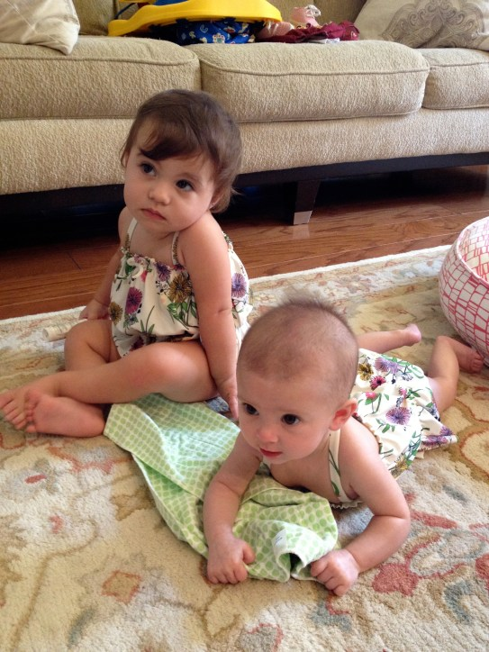 Went swimming with her BFF, Kate. Matching bathing suits, of course!