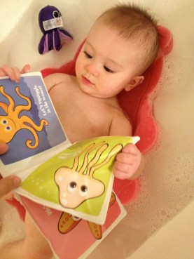 Reading in the bath is soooo relaxing!