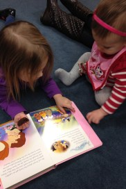 Reading with the big kids!