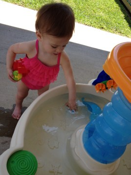 Water table fun on Easter Sunday!