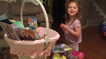 Claire's 3rd birthday fell on Easter Sunday. So she was spoiled with Easter basket treats as well as birthday presents!
