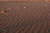 Vom Wind gezeichneter Sand
