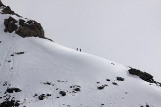 Bergsteiger im Aufstieg am Mönch