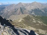 Der Aufstieg auf die Punta di l'Oriente verläuft über einen schönen Bergkamm