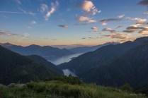 Abendstimmung auf der Alpe Odro, Ticino