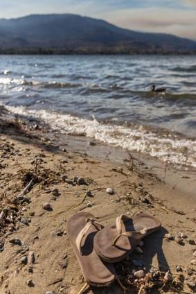 Vom Camper direkt am Strand