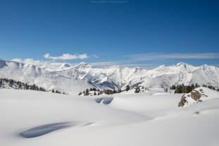 Winterlandschaft bei Adelboden