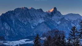 Das Stockhorn im ersten Morgenlicht