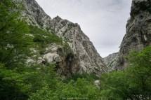 Imposante Felswände in der Velika Paklenica